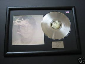 JOHN LENNON - Imagine PLATINUM LP & Cover Presentation disc